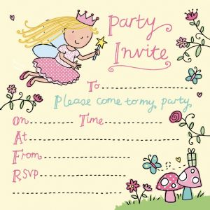 Fairy Girls Party Invitation